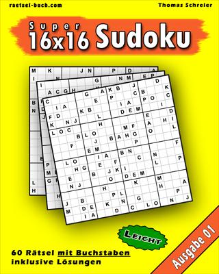 Cover 16x16 Buchstaben-Sudoku Leicht