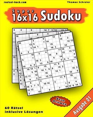 Cover 16x16 Sudoku Schwer